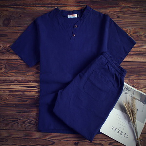 Image 3 - 2020 Brand 100% Cotton Tracksuits for Men Mens Summer Sets Causals Vetement Homme Streetwar Tops Tees & Shorts Set Plus Size9XL