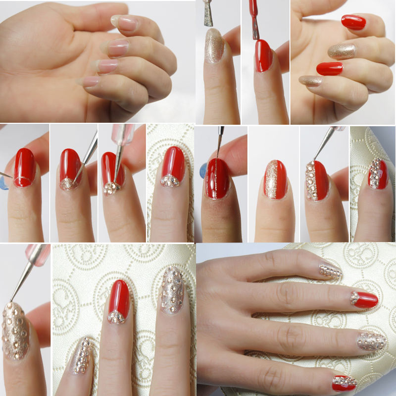 Oleeya nail art non hot fix rhinestones (8)