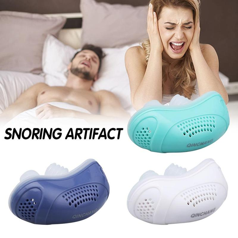 Electric Silicone Anti Snore Nose Clip Nose Stopping Breathing Apparatus Guard Sleeping Aid Mini Snoring Device Relieve Snoring