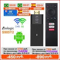 Mecool-smart tv box kd1, global, com certificado google, amlogic s905y2, android 10, 2gb, 16gb, 1080p, 4k, 2.4g e 5g, wi-fi, bluetooth