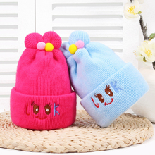 купить Cute Solid Baby Hats Knit Wool Newborn Rabbit Ear Turban Beanie Warm Caps Soft Hat For Girls Boys Elastic Bonnet Autumn Winter дешево