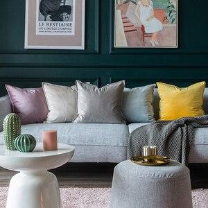 Роскошная розовая мягкая синяя серая модная желтая бархатная Наволочка на подушку, Наволочка на подушку, чехол для подушки, Декоративные ди...