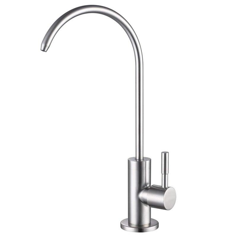 304 нержавеющая сталь обратный осмос кран 360 градусов высокий поворотный носик питьевой воды фильтр с одной ручкой кран холодной воды