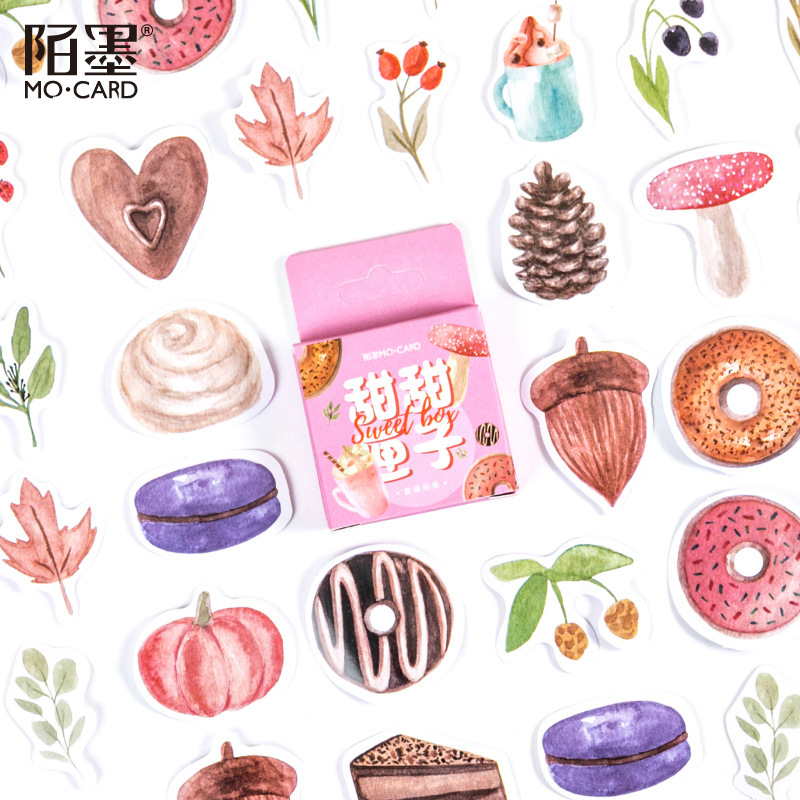 46 Pcs Sweet Doughnut Stickers For Scrapbooking Diary Planner Album Phone Case Laptop Card Making
