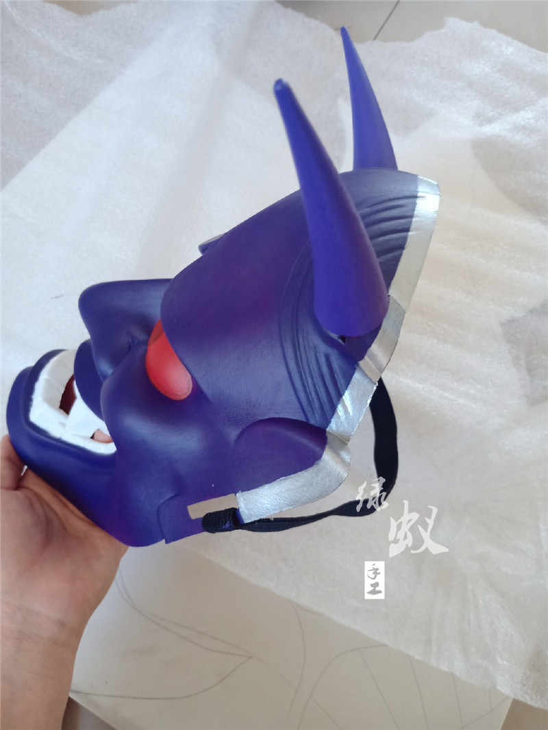 Anime Inu x Boku SS Cosplay Shirakiin Ririchiyo EVA Masker Japan Hannya Cosplay Hoorns Hoofd Clip Hoofddeksels Oni Duivel Masker halloween