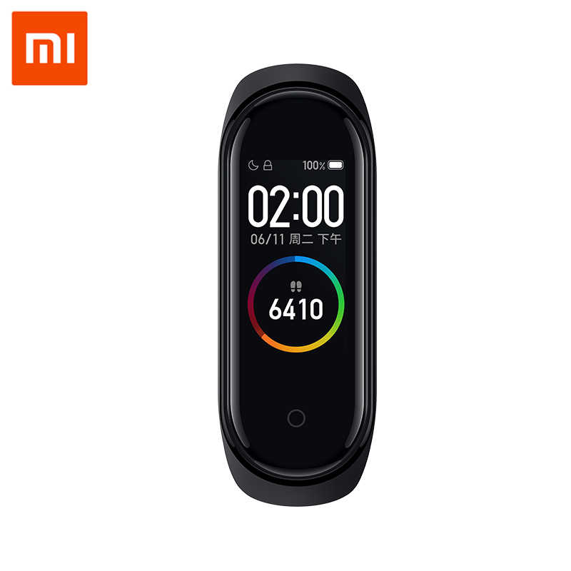 Xiao Mi Mi Band 4 Smart Gelang 3 Warna Layar AMOLED Mi Band 4 Smartband Kebugaran Traker Bluetooth Sport Tahan Air smart Band