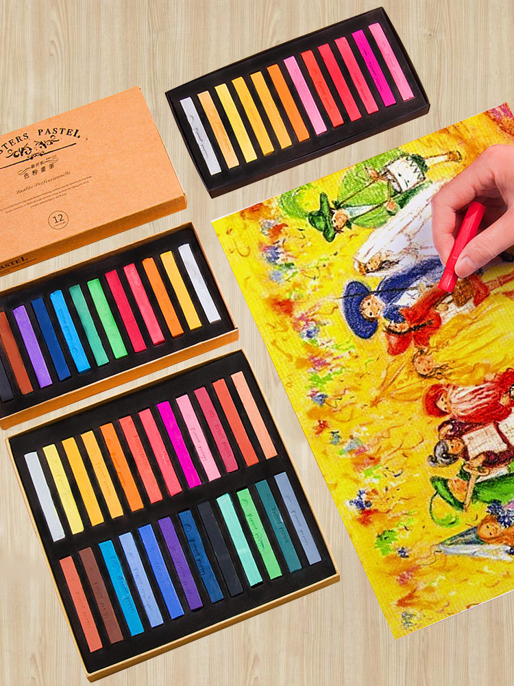 12/24/36-/.. Stationery Crayon Drawing-Set Art Chalk-Color Dry-Pastel Students Art-Supplies