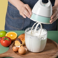 Batidor eléctrico de 900ML para el hogar, mezclador de Mezclador de alimentos de pasteles, batidor de huevos automático, soporte de mesa, licuadora, máquina de crema para hornear, cocina