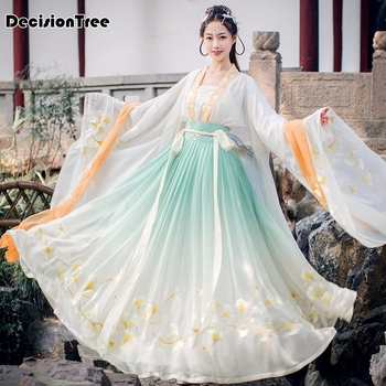 2020 chinese traditional hanfu cosplay costume ancient han dynasty women stage show dress chinese folk dance outfit hanfu set chinese traditional fairy costume ancient han dynasty princess clothing national hanfu outfit stage dress cosplay costume