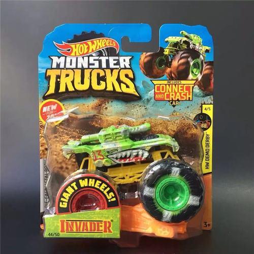 1: 64 оригинальные горячие колеса гигантские колеса Crazy Barbarism Монстр металлическая модель грузовика игрушки Hotwheels большая ножная машина детский подарок на день рождения - Цвет: 44