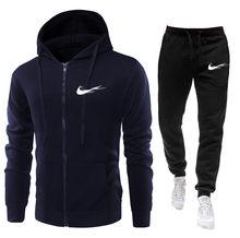 Yeni moda 2 parça takım elbise erkek spor spor giyim koşu spor spor eğitimi takım elbise