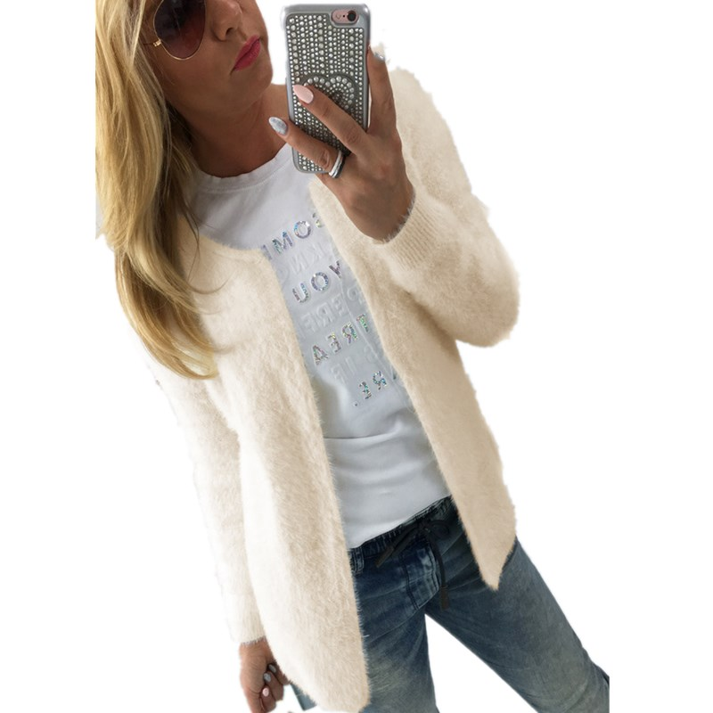 Oufisun 2020 Autumn Fashion Solid Color Long Sleeve Womens Sweater Tops Ladies Cardigan Sweater Coat Lady Knitted Casual Sweater