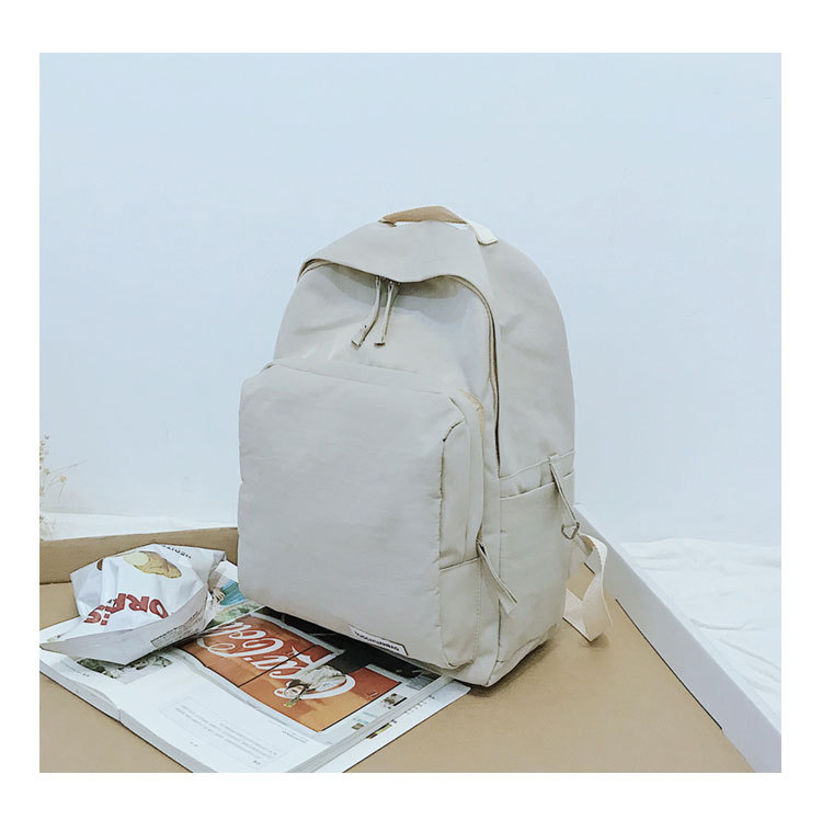 Concise Solid Color Girl Backpack Stylish Design Canvas Day Bag Waterproof Commuter for Teenagers in School Bags from Luggage Bags