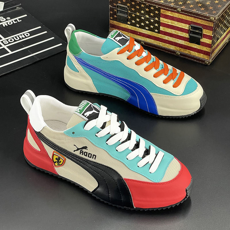 New Men's Shoes 2021 Summer High-Quality Mesh Breathable Fashion Men's Casual Shoes Increased Sports Shoes Trend Canvas Shoes