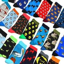 Модные мужские носки в стиле хип хоп с мультипликационным принтом