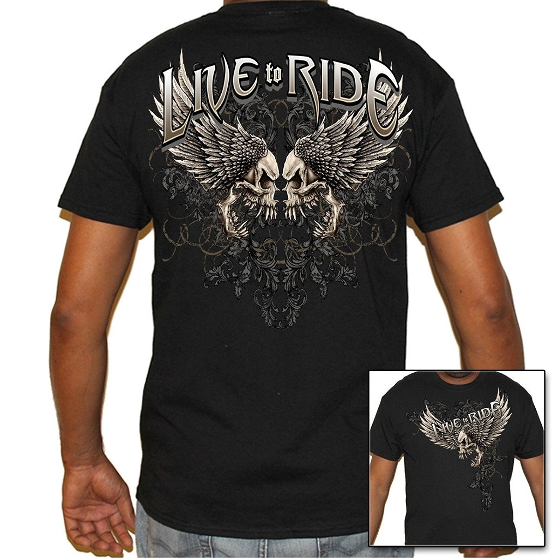 Camiseta de algodão ao vivo do motociclista uso