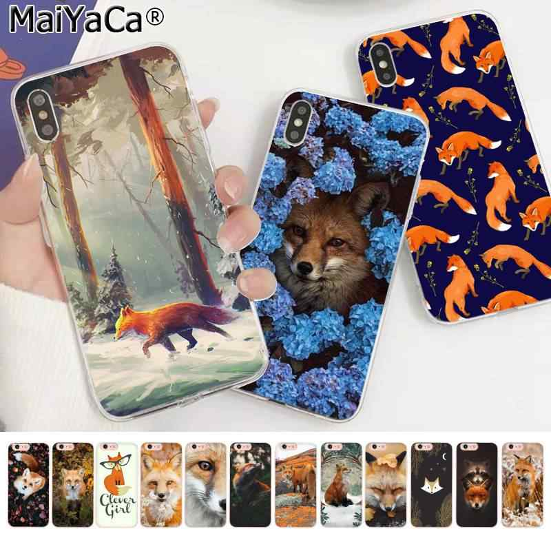MaiYaCa Bonito Fox Em folhas de Outono floresta DIY Luxo High-end Caixa Do Telefone para Apple iphone 11 pro 8 7 66S Plus X XS MAX 5S SE XR