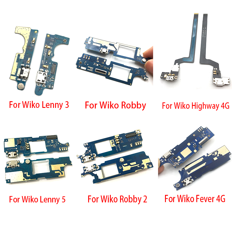 Dock Connector Mic USB Charger Charging Port Flex Cable Board For Wiko U Feel Prime Rainbow Lite Go Lenny 3 5 Robby 2 Fever 4G