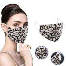 Adulto ao ar livre algodão dustproof reutilizável boca rosto cover máscaras masculino & feminino lavável florais impresso proteção máscaras navio da gota