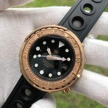 Steeldive1975s latão homem totalmente automático relógios mecânicos susn8 mergulho luminoso masculino mesa à prova dwaterproof água bgw9 profunda 300 m sim