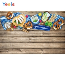 Yeele Oktoberfest Party Photocall Wood Yummy Foods Photography Backdrops Personalized Photographic Backgrounds For Photo Studio
