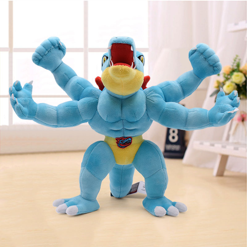 40cm Feraligatr & Machamp Anime Plush Doll Stuffed Animal Toy For Children Christmas Best Gift Wholesale Price