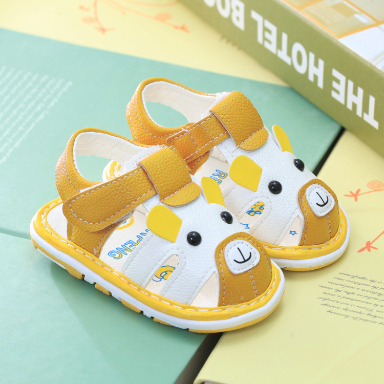 Double Star 2020 Baby Girl Shoes Casual Leather Flat Toddler Infant Sandals Comfortable Non-slip Kids Beach Shoes