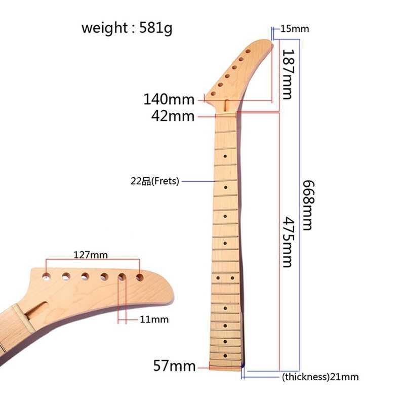 22 לדאוג מייפל בננה חשמלי גיטרה צוואר דוט שיבוץ עבור St החלפת חלקי