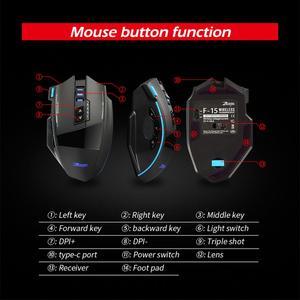 Image 5 - ZEALOT F 15 hot sale Original Dual mode Gaming Mouse 2500 DPI With Wireless Adjustable DPI