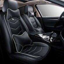 Hexinyan um pçs couro universal capa de assento do carro para audi todos os modelos a3 a8 a4 a5 q3 b7 b8 b9 q7 q5 a6 c7 acessórios do carro