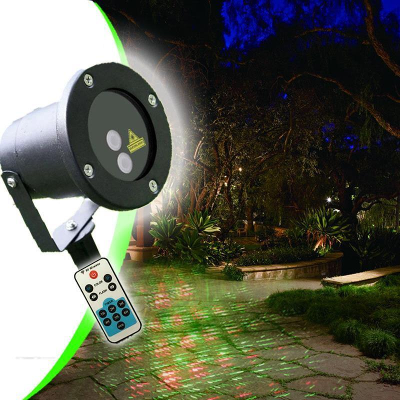 Waterproof Outdoor Garden Moving R&G Stars Laser Stage Light W/ Remote UK/EU/AU