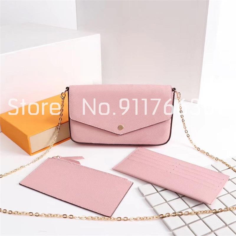 Лидер продаж, Высококачественная женская сумка, кошелек из трех частей, модные конверты на цепочке, простые женские сумки на плечо, женский ...