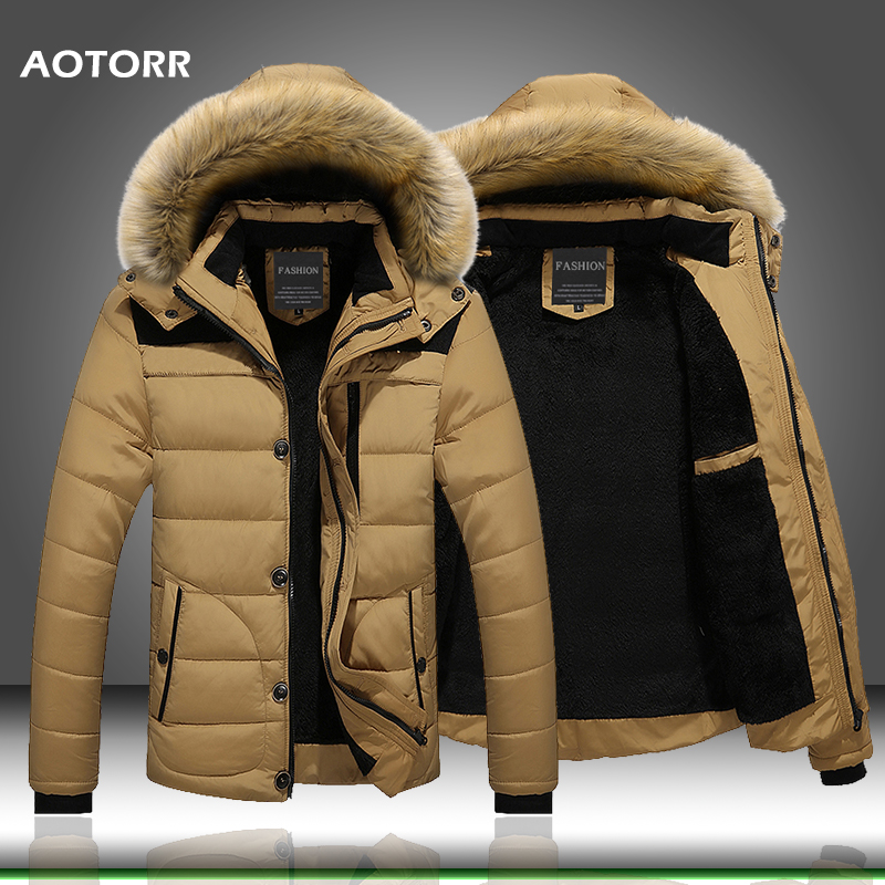 2020 Fur Collar Hooded Men Winter Jacket Men Coat Snow Parka Down Jacket Outerwear Thick Thermal Men Warm Wool Liner Coat M-6XL 1