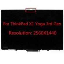 Para lenovo thinkpad x1 yoga 3rd geração lcd montagem da tela de toque substituição fru: 01yt246 01yt247 01ay927 01ay926 wqhd
