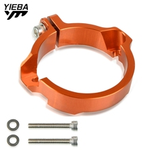 цена на Aluminum  Exhaust Flange Guard For Husqvarna 250/300 TE/TC/TX TC250 TE250 TX300 Tip Muffler Pipe Clamp FOR TE300 2017 2018 2020