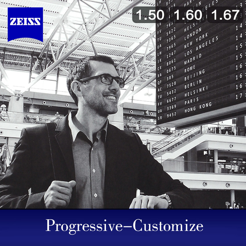 Image 2 - ZEISS Progressive Lens 1.50 1.60 1.67 Multifocal Glasses Lenses Customized ( Need Full Prescription Data)-in Eyewear Accessories from Apparel Accessories