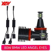 yay 2Pcs H8 LED Headlight Bulbs Angel Eyes Auto Lights Car Lamp Canbus for BMW X5 E70 X6 E71 E90 E91 E92 E82 E84 E87 E60 E61 h8 20wx2 led angel eye halo light marker for bmw e60 e61 e63 e64 e70 x5 e71 x6 e82 e87 e89 z4 e90 e91 e92 e93