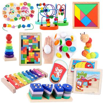 Drewniane zabawki dla dzieci Montessori Tangram matematyka Tetris wczesne kształty układanki inteligentne jajka nauka edukacja zabawki do gry dla dzieci tanie i dobre opinie CN (pochodzenie) 13-24m 25-36m 4-6y 7-12y 12 + y Chiny certyfikat (3C) Zwierzęta i Natura Sport Wooden and plastic toys