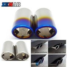 Silenciador de tubo de escape para coche, cubierta de tubo para BMW E90, E92, 325i, 328i, Volkswagen, VW, Golf 7, 6, Mk7, Polo, Bora, Jetta, Mk6, Scirocco, 1,4 T, 2 uds.