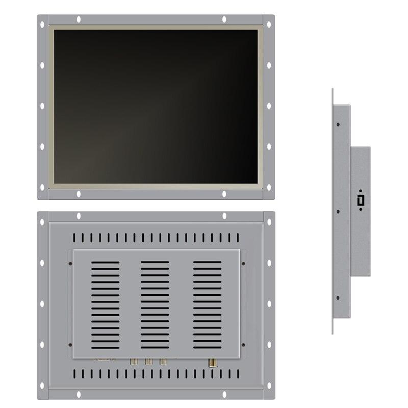 14 15 15,6 17-дюймовый промышленный монитор VGA DVI, дисплей без сенсорного экрана, открытая рамка, монитор компьютера, экран планшета