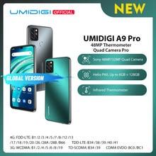 UMIDIGI A9 Pro SmartPhone desbloqueado 32/48MP Quad Cámara 24MP Selfie Cámara 4GB 64GB/6GB 128GB Helio P60 6,3