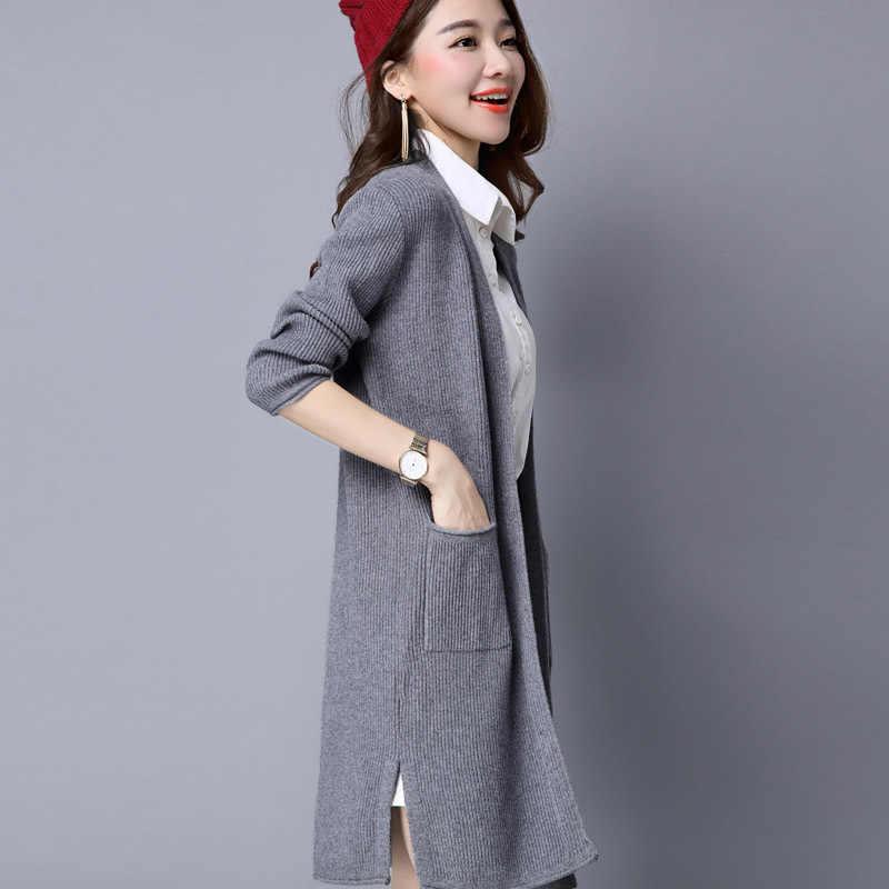 ผู้หญิงเสื้อสเวตเตอร์ถัก Feminino เกาหลีเสื้อกันหนาวผู้หญิงถักเสื้อสเวตเตอร์ถักโครเชต์หญิงเสื้อสุภาพสตรี Sueter Mujer KJ114