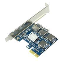 Adapter PCI-E na PCI-E 1 obrót 4 gniazdo pci-express 1x do 16x USB 3 0 górnictwo specjalna karta rozszerzająca konwerter PCIe dla BTC Miner Mining tanie tanio CN (pochodzenie) Riser na PCI-E NONE Dostępny w magazynie PCI-E 1 to 4 PCI-E Adapter dropshipping wholesale