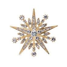 WEIMANJINGDIAN – broche Starburst en strass transparent pour femmes, accessoires de mode pour robe