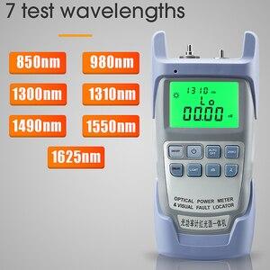 Image 3 - AUA 9A All IN ONE optik güç ölçer görsel hata bulucu fiber optik test cihazı 5KM 10km 20KM 30km VFL 1/10/20/30MW