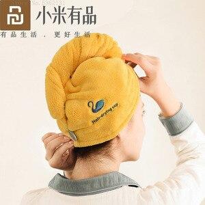 Image 1 - Youpin JORDAN & JUDY gorro de secado de pelo suave para mujer, tapa de secadora rápida, absorbente de agua, gorro protector para la diadema de la ducha del hogar