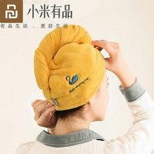 Youpin jordan & judy tampão de secagem do cabelo macio das mulheres secador de cabelo rápido tampão de absorção de água para casa chuveiro bandana capa protetora