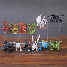 How to Train Your Dragon 3 The Hidden World Toothless Night Fury Mini PVC Figures Toys Set Children's Kid's Gifts