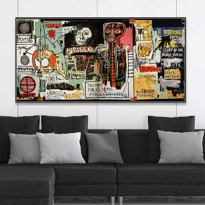Besar Abstrak Gaya Grafiti Dinding Seni Kanvas Poster dan Cetak Kanvas Lukisan Dekoratif Gambar untuk Ruang Tamu Dekorasi Rumah