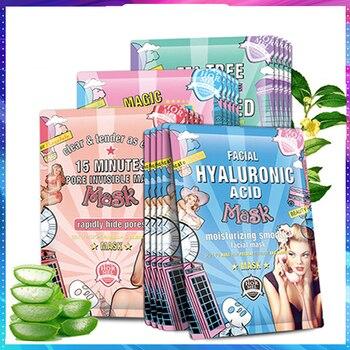 HEMEIEL-mascarilla hidratante de ácido hialurónico, máscara coreana con hoja de colágeno para...